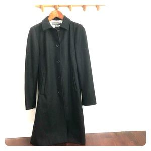 Banana Republic Lined Dress Coat Peacoat Sz Medium